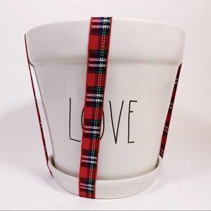 Rae Dunn Other - Rae Dunn LOVE Flower Pot Planter Christmas